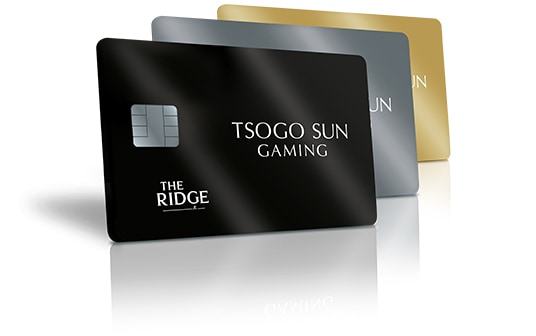 All the new The Ridge Casino rewards cards