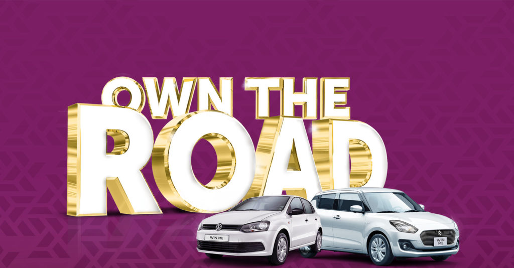 Own The Road gaming promotion header banner
