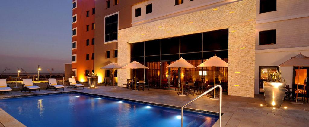 StayEasy Emalahleni hotel pool view landscape banner