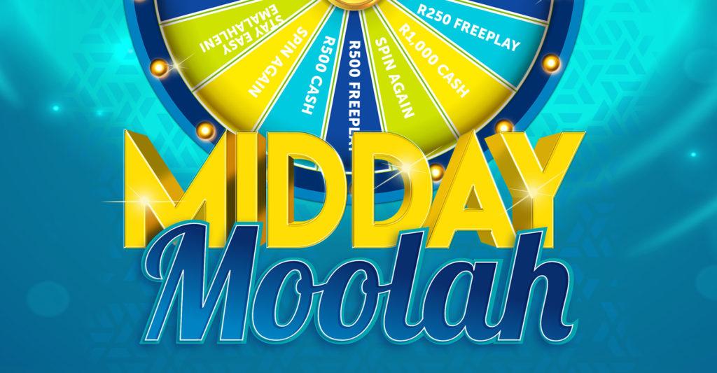Midday Moolah gaming promotion header banner