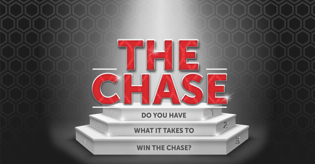 The Chase gaming promotion header banner